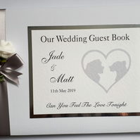Personalised Lion King themed wedding guest book