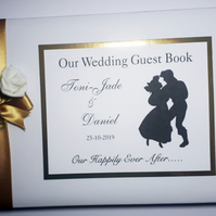 Personalised Little Mermaid themed wedding guest book