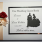 Personalised Batman and Belle themed wedding guest book
