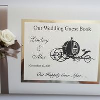 Personalised Cinderella wedding guest book