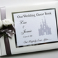 Personalised Disney castle themed wedding guest book
