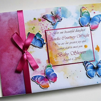 Personalised butteflies themed Birthday Guest Book