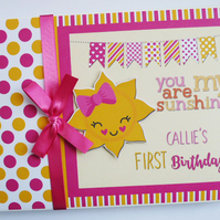 Personalised You are my sunshine Birthday Guest Book