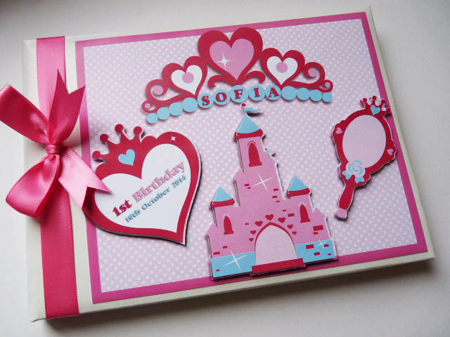 Personalised Princess themed Birthday Guest Book