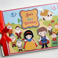 Personalised Snow White themed Birthday Guest Book