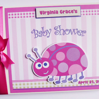 Personalised Ladybird themed Baby Shower Guest Book