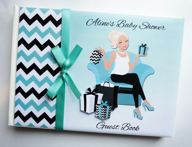 Personalised Mum to be Baby Shower Guest Book