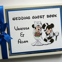 Personalised Mickey and Minnie wedding guest book