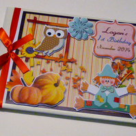Personalised  Autumn themed Birthday Guest Book