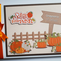 Personalised  Pumpkin Patch Birthday Guest Book