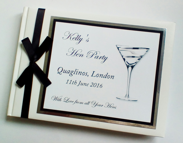Personalised Hen Night guest guest book, Birthday guest book