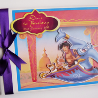 Personalised Aladin Birthday Guest Book