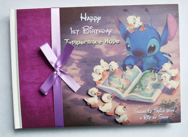 Personalised Lilo and Stitch Birthday Guest Book