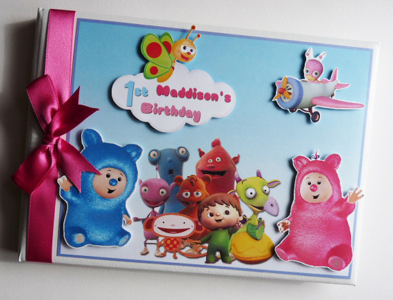 Personalised Baby TV Birthday Guest Book, Baby Shower Guest book
