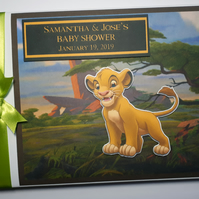 Personalised Lion King Birthday Guest Book, Baby Shower Guest book