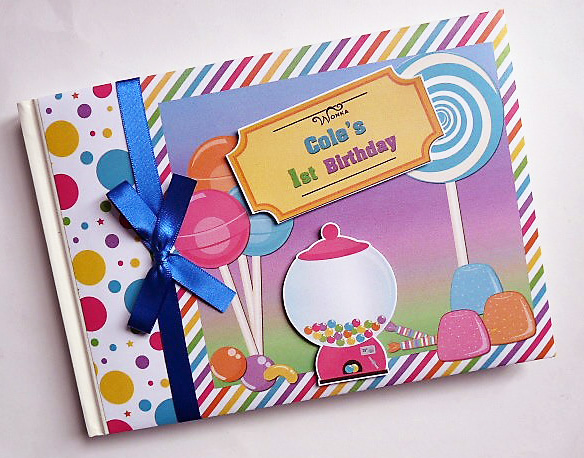 Personalised Willy Wonka Birthday,  Baby Shower Guest Book
