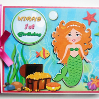 Personalised  Mermaid Birthday Guest Book