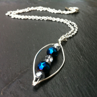 Blue and Silver Sparkle Necklace