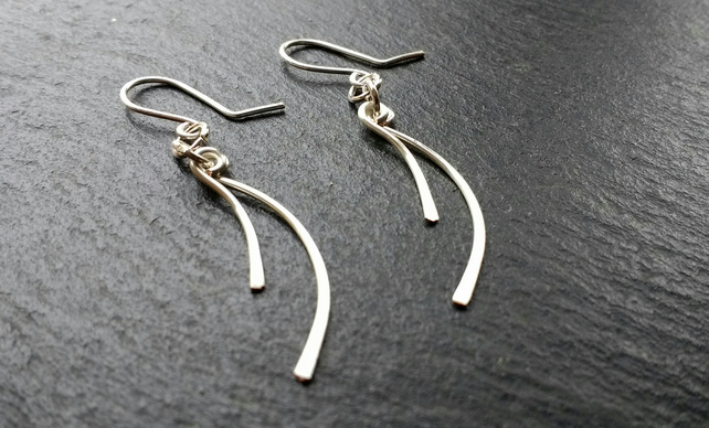 Double Lash Silver Plated Earrings