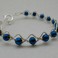 Electric Blue Zigzag Bracelet