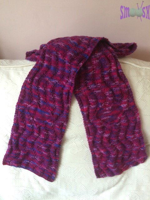 Candy Sweetheart Wibbly Rib Scarf