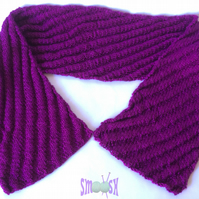 Silk Scarf: Raspberry Ripple