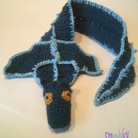 Child's Scarf: Boo Draggle (3-8 yrs)