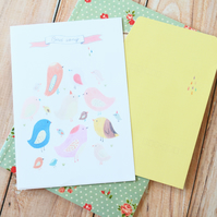 Bird Song Everything You Want writing paper & envelopes letter set
