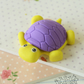 Violet & Yellow Little Turtle Eraser