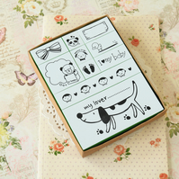 I Love My Baby Natural Somssi cartoon rubber stamps set