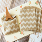 Chevron Kraft Brown Itty Bitty Bags small paper bags