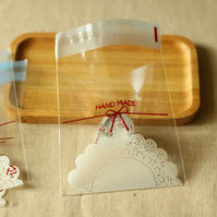 Lace Handmade Bow Cookie Bags plastic packaging party sweets bags