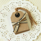 Kraft Brown East of India Medium Luggage gift tags