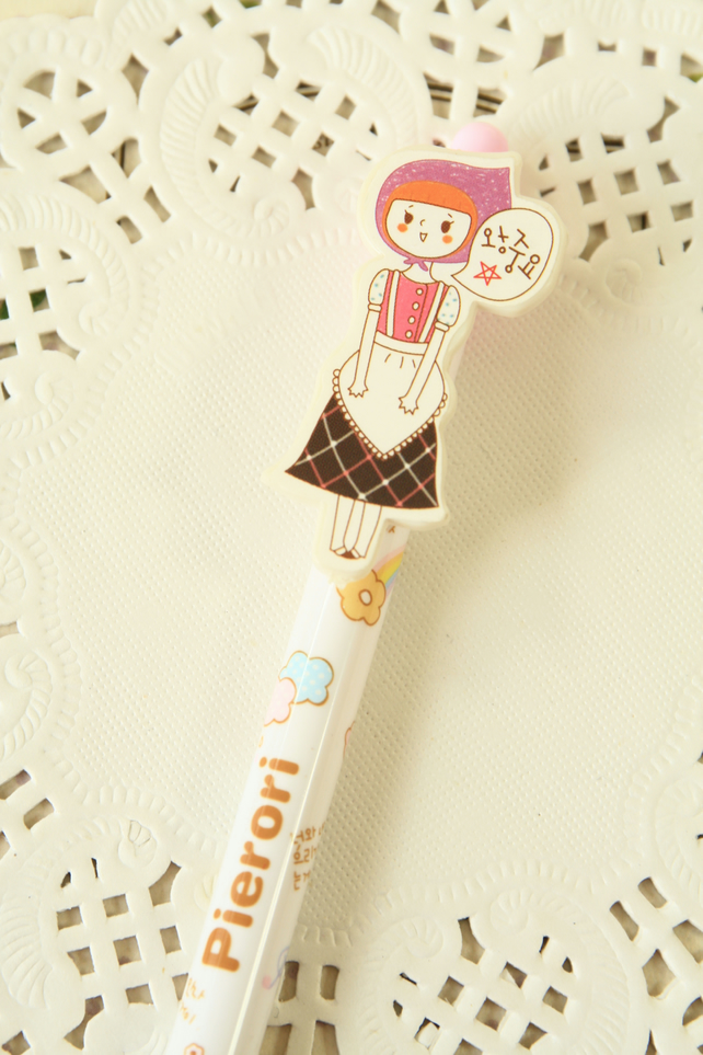 Pink Pierori Girl Pen cartoon ballpen