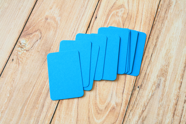 Medium Blue blank business cards
