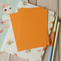 Pumpkin Orange postcard blanks
