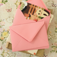 Rose Pink vintage series C6 banker envelopes