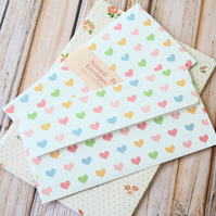 Candy Hearts Natural Pattern Envelopes