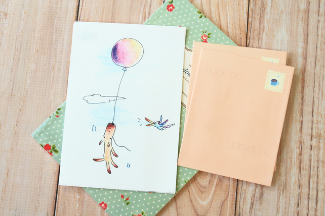 Balloon Puppy Ning Ju writing paper and envelopes letter set