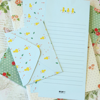 Chicks Bird Time Diary writing paper and envelopes letter set