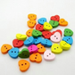 Hearts Mix Colour wooden buttons 20pc set