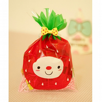 Strawberry Face cellophane cookie bags sweets bags