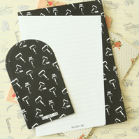 Thor Black & White writing paper and envelopes letter set