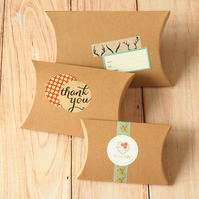 Textured Kraft Brown DIY Small pillow boxes