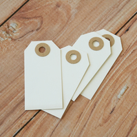 Small White Old Fashioned Luggage Tags