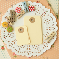 Cream petite rounded gift tags