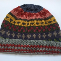 Tapestry inspired hat