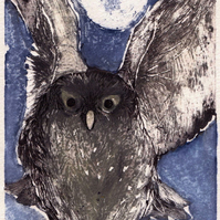 """Midnight"" Original Collagraph Print"