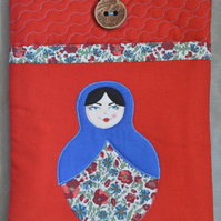 Red Applique Russian Doll iPad Case