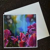 """Fire Irises"" Fine Art Greeting Card"